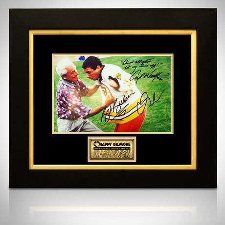 Happy Gilmore // Adam Sandler + Bob Barker + Carl Weathers Signed Photo // Custom Frame