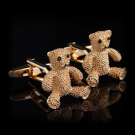 Exclusive Cufflinks + Gift Box // Gold Bears