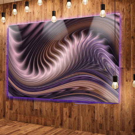 Purple Waves Fractal