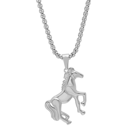 Stainless Steel Stallion Pendant