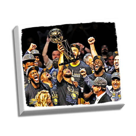2018 NBA Champion Golden State Warriors // 22 x 26Stretched Canvas
