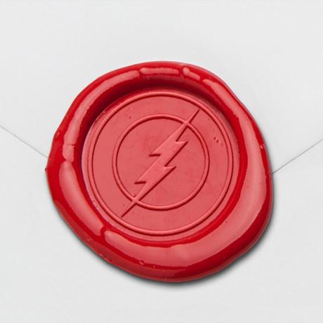 Lightning Bolt Wax Seal Stamp Kit (Beech Handle)