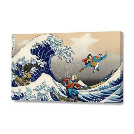 """Great Wave (16""""W x 24""""H x 1.5""""D // Stretched Canvas)"""