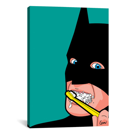 "Bat-Brush // Grégoire ""Léon"" Guillemin (18""W x 26""H x 0.75""D)"