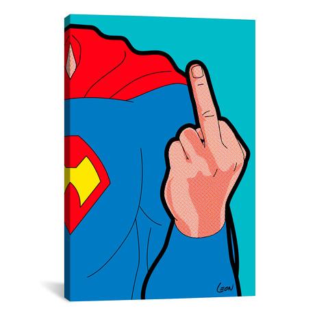 """Super-Finger //  Grégoire """"Leon"""" Guillemin (18""""W x 26""""H x 0.75""""D)"""