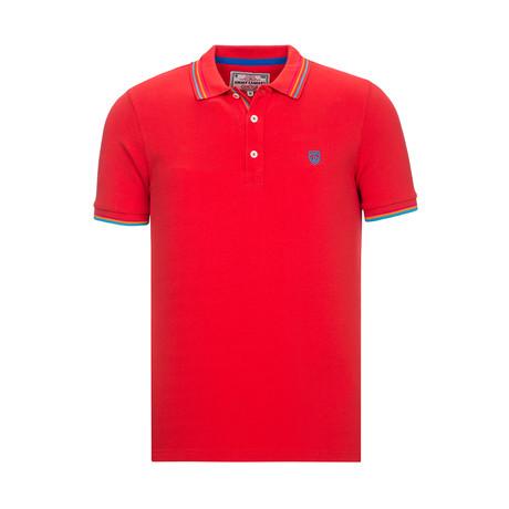 Axon Short Sleeve Polo // Red