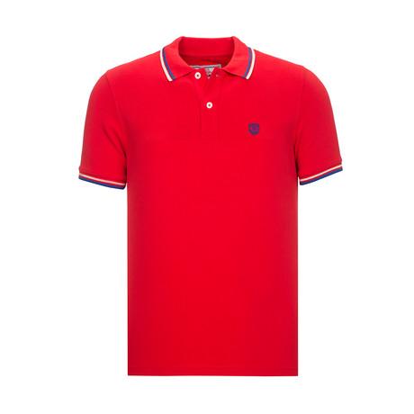 Geoffrey Short Sleeve Polo // Red