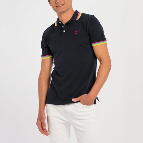 Langdon Short Sleeve Polo // Navy
