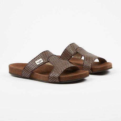 Woven Leather Sandle // Brown (US: 7)