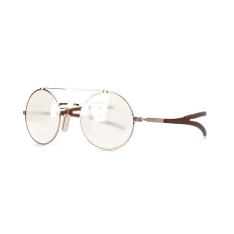 Activist Eyewear // Model 10.03 Round Frame // Brushed White Gold
