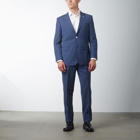 Modern Fit Pinstripe Suit // Blue