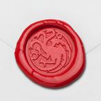 Three Headed Dragon Wax Seal Stamp Kit (Beech Handle)