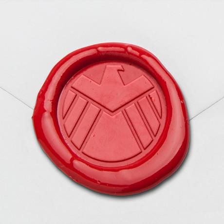 Heraldic Eagle Wax Seal Stamp Kit (Beech Handle)