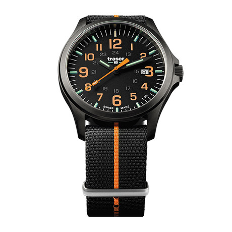 Traser P67 Officer Pro GunMetal Black-Orange Quartz // 107425