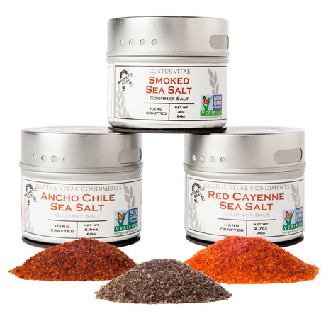 Chef's Gourmet Grilling Sea Salts Trio Set // Set of 3