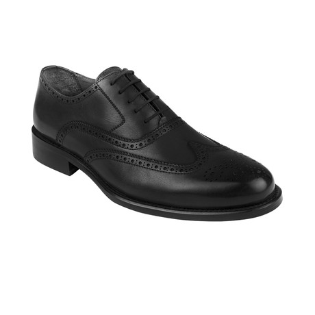Wingtip Oxford  // Black Antique (Euro: 39)