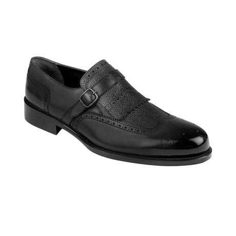 Cross Strap Loafer  // Black Antique (Euro: 39)