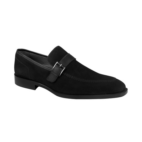 Cross Strap Loafer  // Black Suede (Euro: 39)