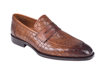 Photo of Torento Loafers + Dress Shoes Croc Embossed Penny Loafer // Tobacco (Euro: 39) by Touch Of Modern