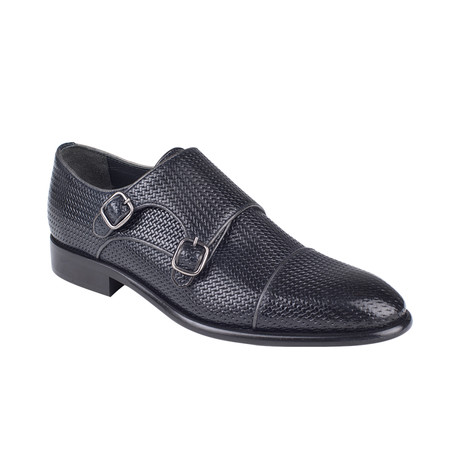 Woven Monk Strap Shoe  // Black Straw (Euro: 39)