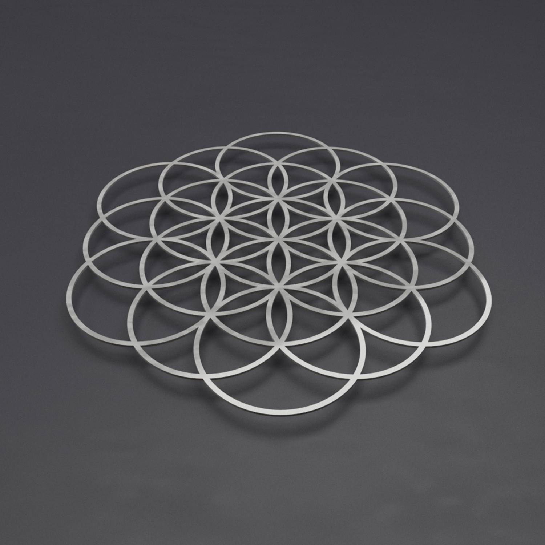 Flower Of Life Iv 3D Metal Wall Art (24W X