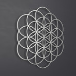 "Flower of Life IV 3D Metal Wall Art (24""W x 24""H x 0.25""D)"