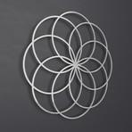 "Seed of Life III 3D Metal Wall Art Sculpture (24""W x 24""H x 0.25""D)"