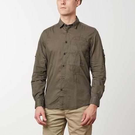 John Long-Sleeve Shirt // Army Green