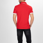 Concord Short Sleeve Polo Shirt // Red + Black (S)