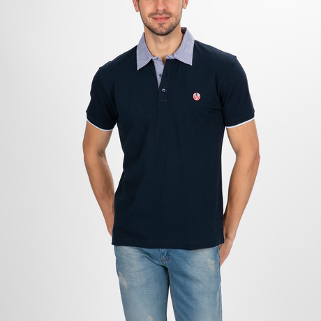 Columbia Short Sleeve Polo Shirt // Navy (S)