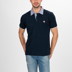 Columbia Short Sleeve Polo Shirt // Navy (M)