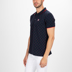 Austin Short Sleeve Polo Shirt // Navy + Red (S)