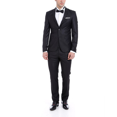 Hunter 2-Piece Slim-Fit Suit // Black (Euro: 44)