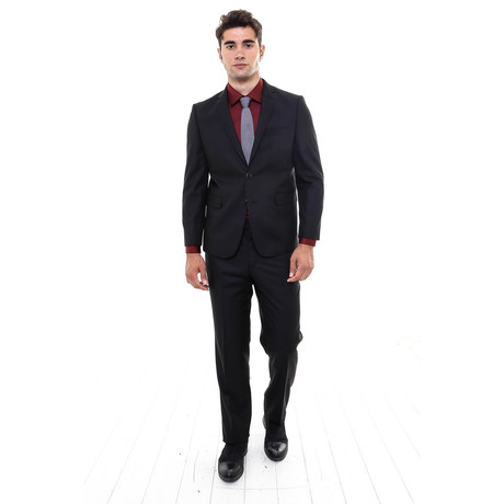 Ivan 2-Piece Slim Fit Suit // Black (Euro: 42)