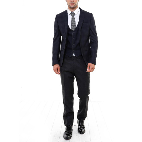 Dillon 3-Piece Slim-Fit Suit // Black (US: 48R)