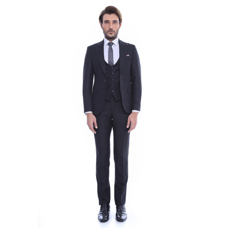 Juan 3-Piece Slim-Fit Suit // Black