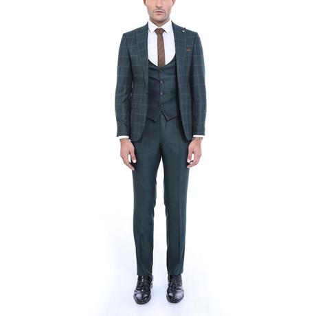 Steven 3-Piece Slim-Fit Suit // Green (Euro: 44)