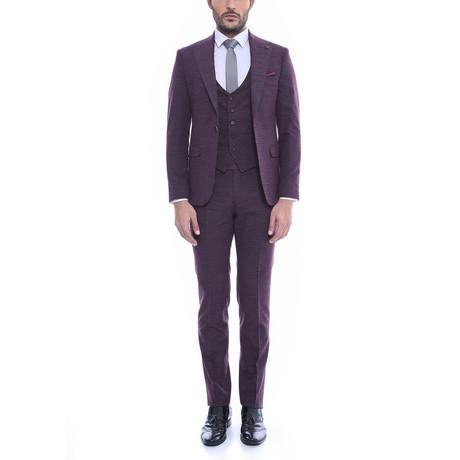 Earnest 3-Piece Slim-Fit Suit // Purple (Euro: 54)