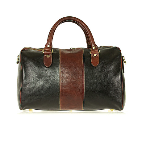 Amerigo Bag // Black + Brown