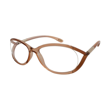 Women's Hamza Optical Frames // Transparent Peach