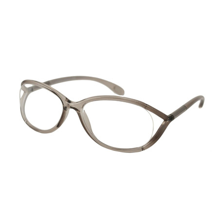 Women's Hamza Optical Frames // Transparent Dove Gray