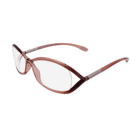 Women's Jaxson Optical Frames // Transparent Rust Brown