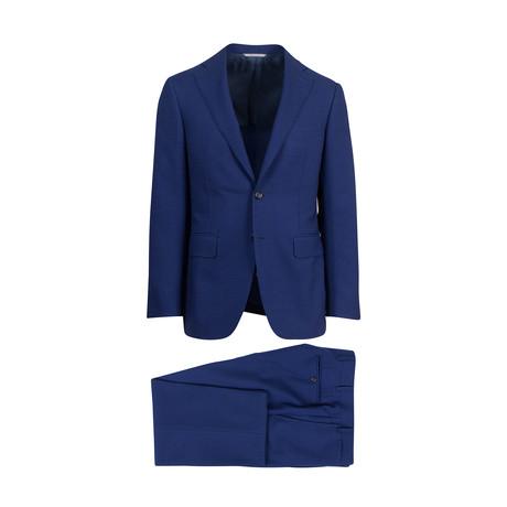 Wool Blend Slim Fit Suit // Blue