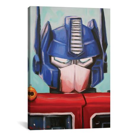 """Optimus Prime // Hillary White (26""""W x 18""""H x 0.75""""D)"""
