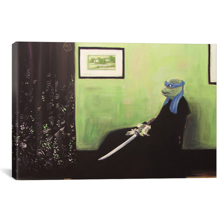 """Whistler's Turtle by Hillary White (26""""W x 18""""H x 0.75""""D)"""
