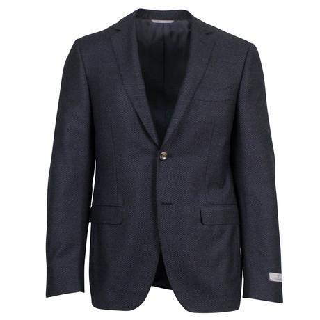 Canali // Herringbone Wool Slim fit Suit // Gray (US: 46S)