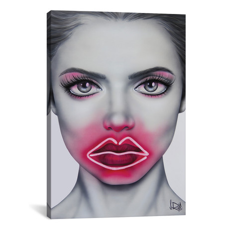 "Neon Kisses // Scott Rohlfs (12""W x 18""H x 0.75""D)"