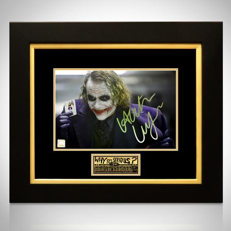 Joker Dark Knight // Heath Ledger Signed Photo // Custom Frame