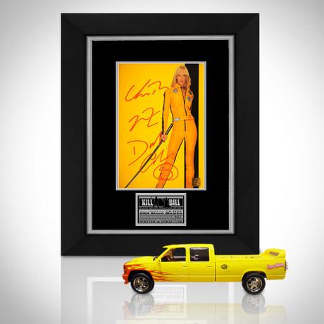 Kill Bill // Uma Thurman + David Carradine + Quentin Tarantino Signed Memorabilia (Signed Pussy Wagon Custom Display Only)