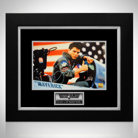 Top Gun // Tom Cruise Signed Photo // Custom Frame
